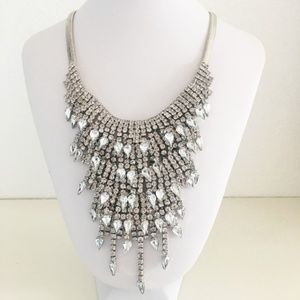 Cascading Crystals Statement Necklace